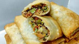 Spring Rolls Recipe | Restaurant style Spicy Spring Roll Recipe | #IndianStreetFood