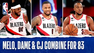 Melo, Dame & CJ Combine For 83 PTS!