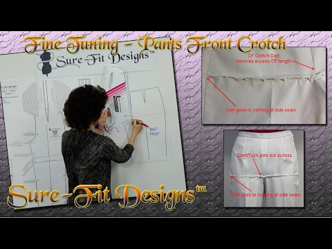 How to Remove Horizontal Front Folds in Pants Crotch - Sure-Fit Designs