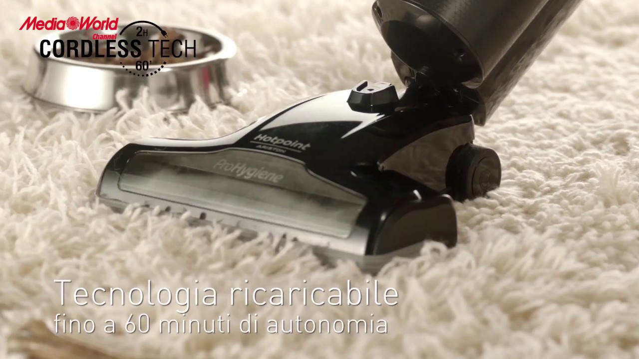 Hotpoint Power Move Scopa Elettrica Senza Fili Multiciclonica Youtube