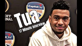 Tua Tagovailoa gives 17 minute interview at the Orange Bowl