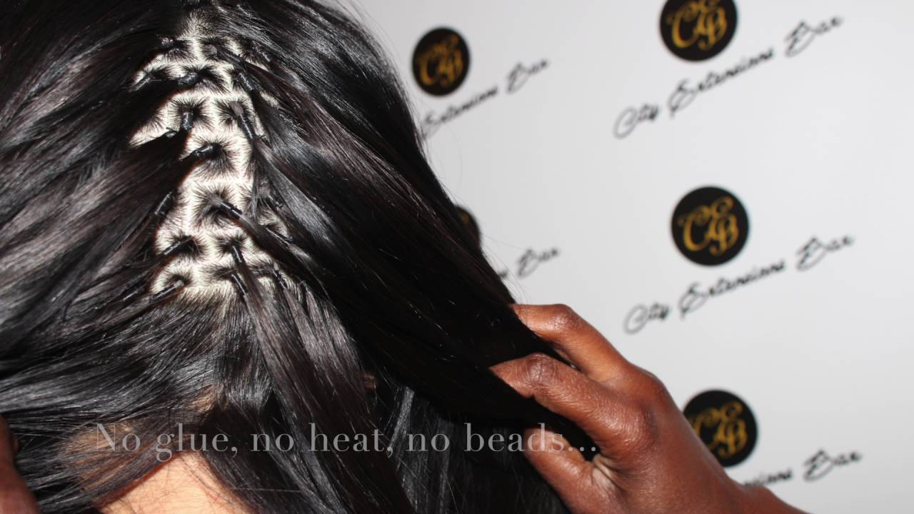 Brazilian Knots hair extensions - YouTube