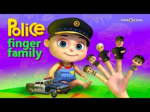 Police Finger Family - Part 2 | Finger Family Songs | Videogyan 3d Rhymes| Nursery Rhymes Kids Songs