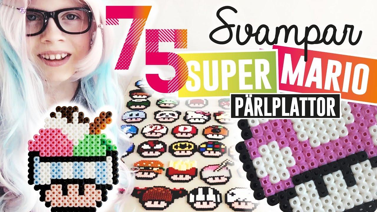 Pärlplattor Super Mario Svampar Perler Beads Mushrooms