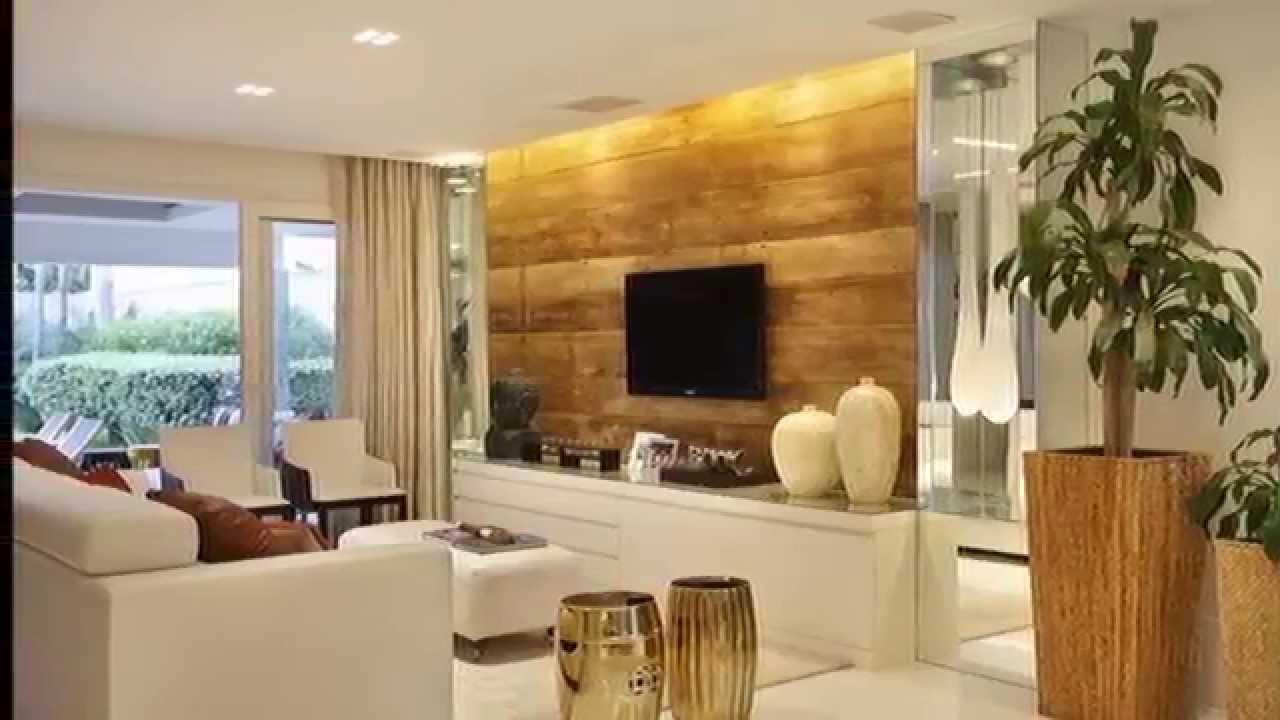 Decoração sala estar madeira