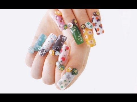 Japanese Nail Art Tutorial by NailVenus - YouTube