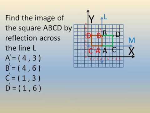 primary 5 math lessons second term exercise on reflection شرح رياضيات لغات خامسة ابتدائى