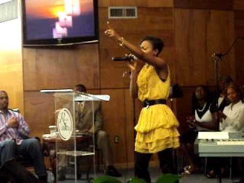 Blessing performing in USA