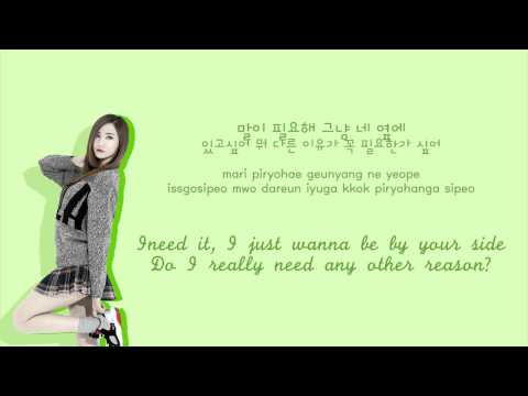 EXID - 1m [Color coded Hangul|Rom|Eng lyrics]