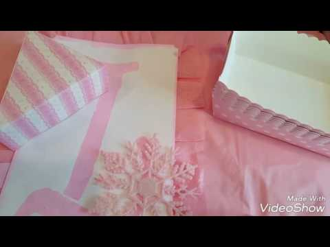 Pink and White party theme from Dollar Tree and Daiso