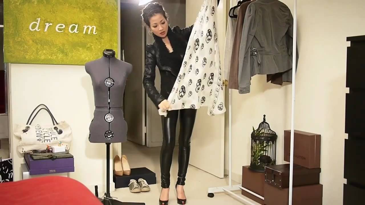 5b2e045de285 Pairing  What to wear with Leather Pants - YouTube