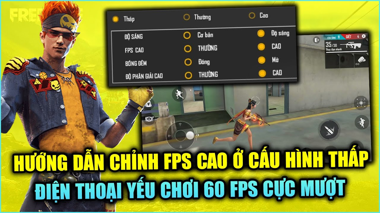 Free Fire | Hướng Dẫn Cài FPS CAO Cho Cấu Hình Thấp Điện Thoại Yếu Chơi Cực Mượt | Rikaki Gaming