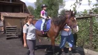 видео Иппотерапия, лечебная верховая езда