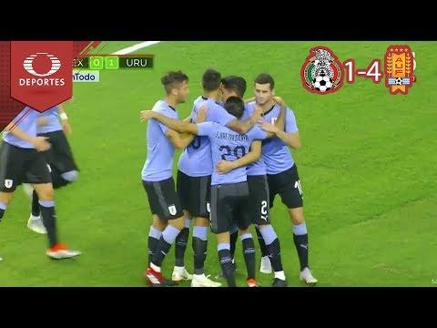 Lluvia de goles charrúas | México 1 - 4 Uruguay | Amistoso - Televisa Deportes