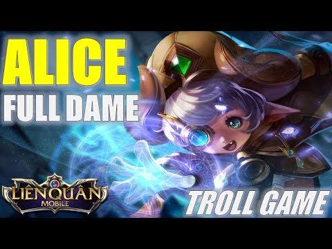 Liên Quân Mobile: ALICE troll game lên đồ FULL DAME như 1 xạ thủ thì sẽ như thế nào?