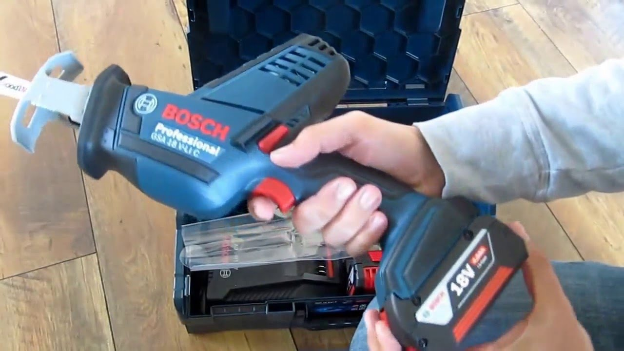 83cbd980e51 Unpacking / Unboxing cordless sabre saw Bosch GSA 18 V-Li C 06016A5070 -  YouTube