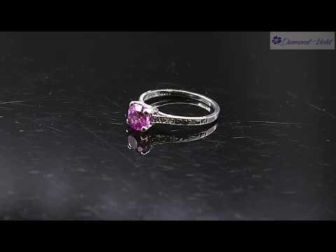 1 36CT ANTIQUE VINTAGE DECO PINK SAPPHIRE DIAMOND ENGAGEMENT WEDDING RING PT EGL