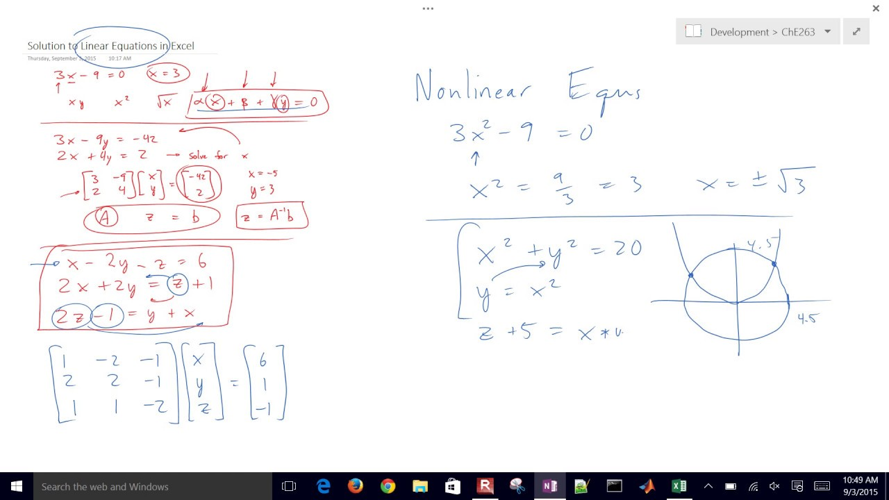 Solve Nonlinear Equations With Excel Youtube