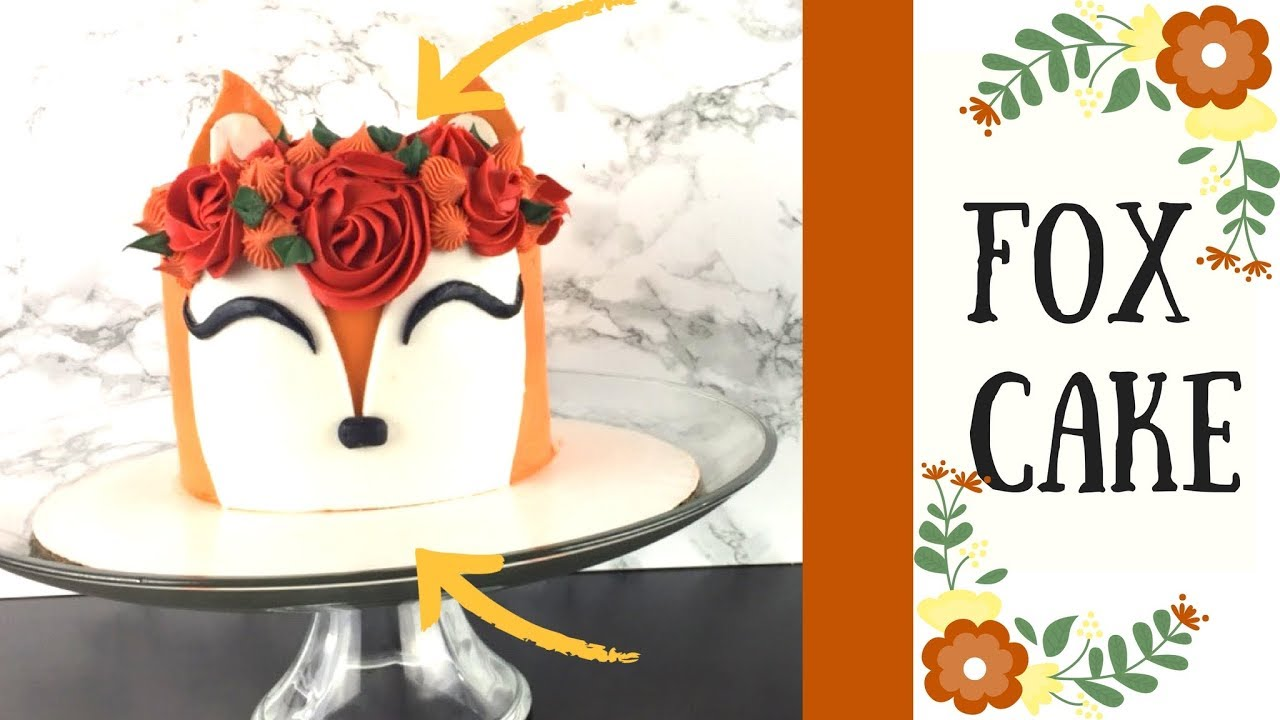 How To Make A Thanksgiving Fall Fox Cake Youtube