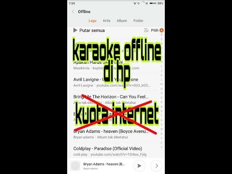 Cara karaoke offline tanpa kuota internet di hp android. cara memasang lirik lagu.