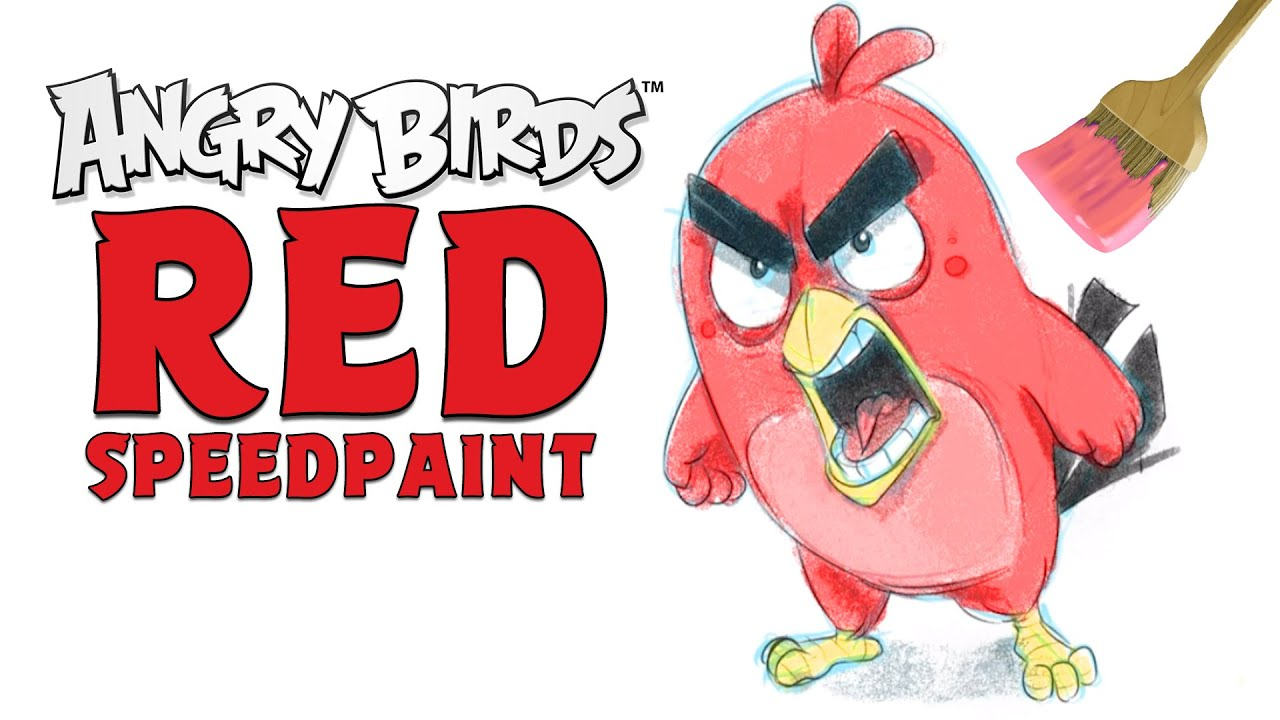 Angry Birds Speedpaint   Drawing Red By Bo From Resolution Games