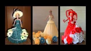 куклы з бумажных конфеты