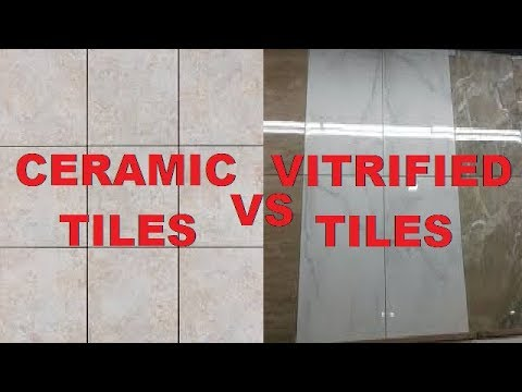 Difference Between Ceramic Tiles Vitrified Tiles Youtube