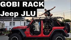 Jeep Wrangler JLU Gobi Rack with Soft Top