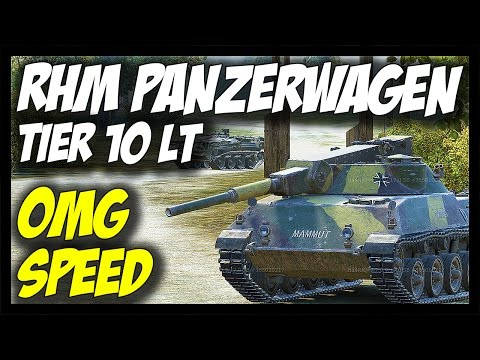 ► RHM. PANZERWAGEN, Tier 10 German Light Tank - World of Tanks Rheinmetall Panzerwagen Gameplay