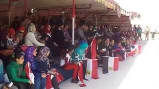 طلاب هندسة الاسماعيلية وهتافات تحيا مصر فى قناة السويس الجديدة