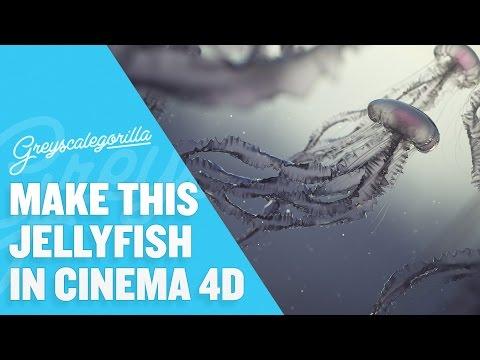 Cinema 4D Tutorial - Model, Texture, And Light A Jellyfish Scene