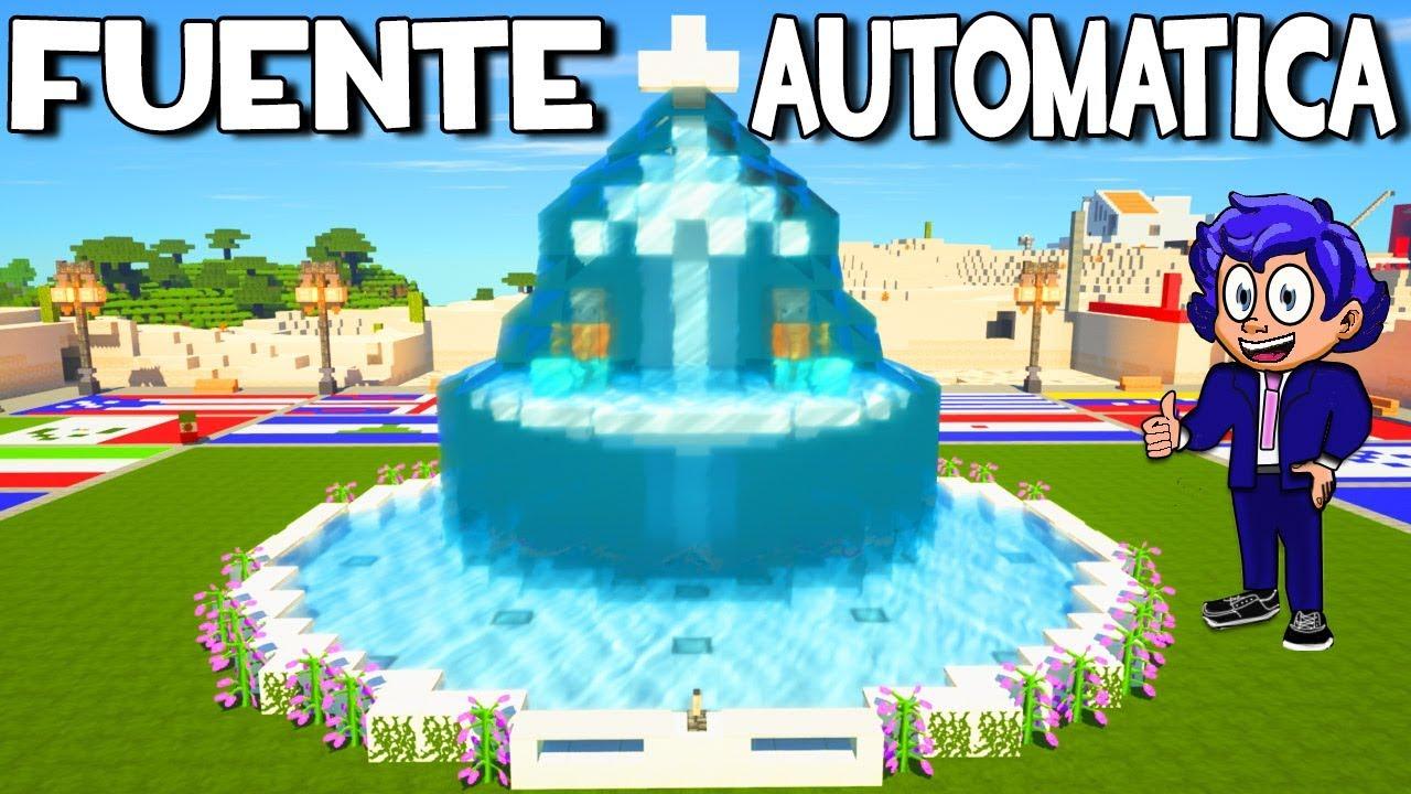 C mo hacer una fuente de agua autom tica en minecraft - Motor de fuente de agua ...