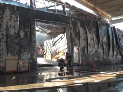 Рятувальники ліквідували пожежу в складському приміщенні підприємства з виготовлення меблів