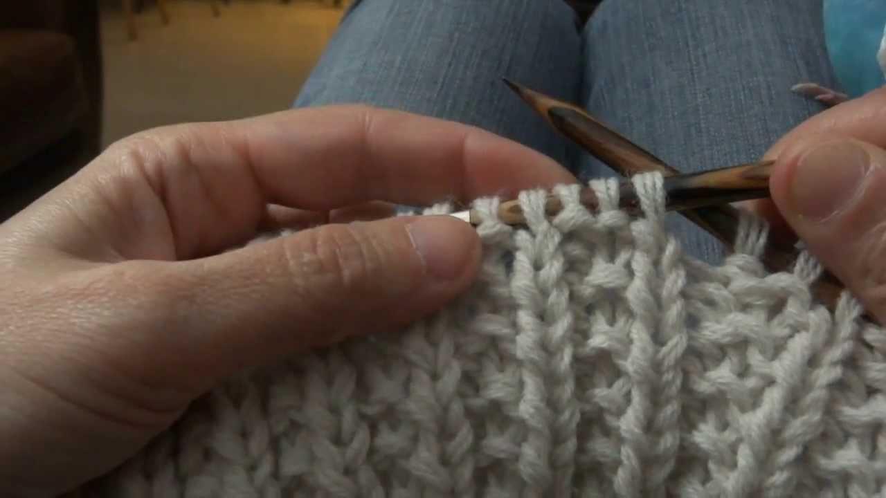 comment tricoter avec une aiguille circulaire video