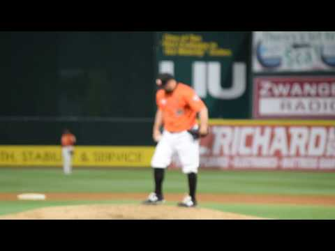 Fmr Cy Young Eric Gagne Pitching LI Ducks HD