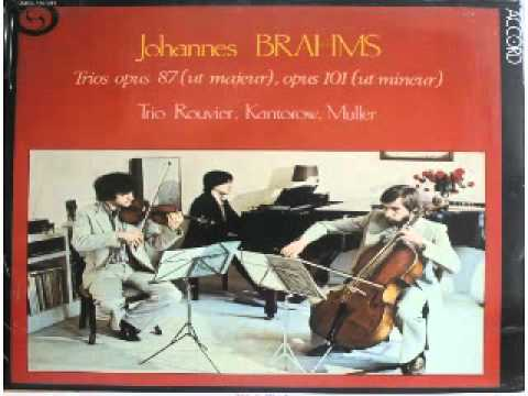 Brahms Trio op  101 c moll Jean Jacques Kantorow, Philippe Muller, Jacques Rouvier