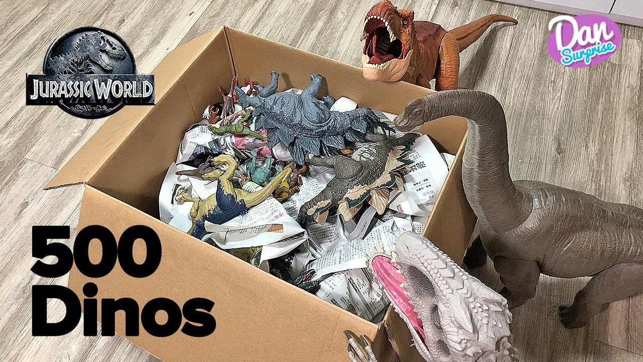 PACKING 500 JURASSIC WORLD DINOSAURS INTO A BOX! Jurassic World Camp Cretaceous Dinosaurs