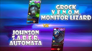 Grock V.E.N.O.M. Monitor Lizard Skin VS Johnson S.A.B.E.R. Automata Skin | Mobile Legends