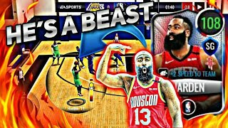 108 OVERALL JAMES HARDEN IS A BEAST!! IN NBA LIVE MOBILE 20 (BEST 3 POINT SHOOTER)