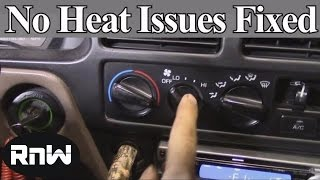 How to Diagnose and Fix No Heat Issues - Also a Demonstration on How Car Heating Systems Work thumbnail