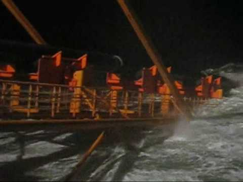 offshore storm, russia, pipeline. freezing