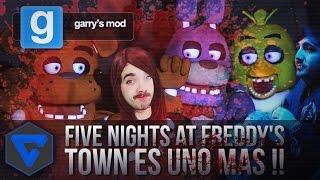 FIVE NIGHTS AT FREDDY'S GMOD TOWN ES UN ANIMATRONICO MAS !! HORROR MAP
