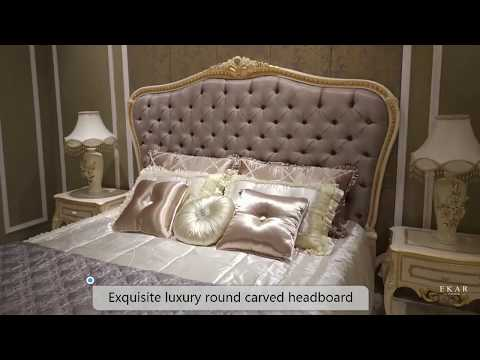 fabric upholstered headboard and have full of size bed