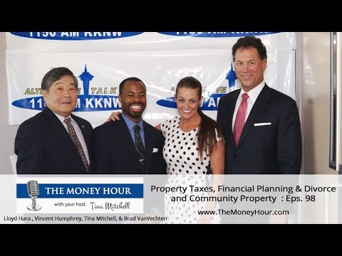 Tina Mitchell, your host with The Money Hour Show Property Taxes, Financial Planning & Divorce