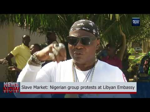 Slave Market: Nigerian group protests at Libyan Embassy