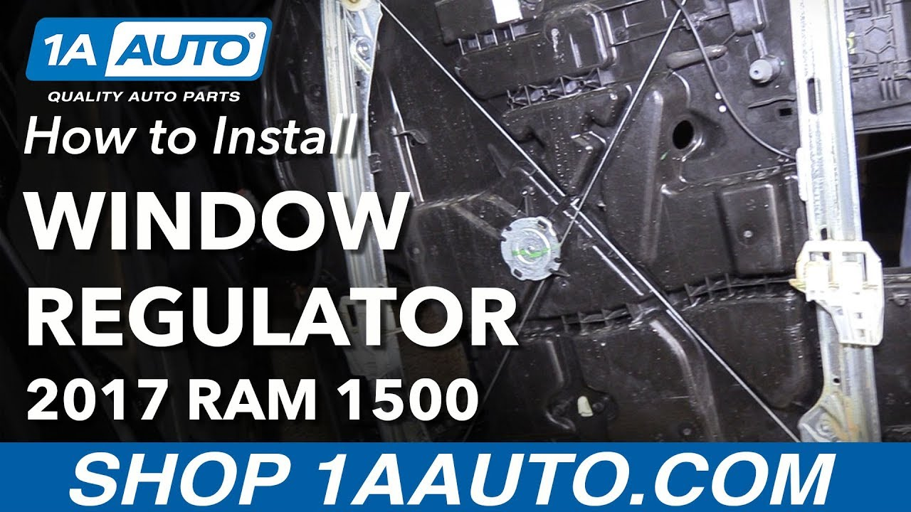 hight resolution of how to replace front door window regulator 09 18 ram 1500