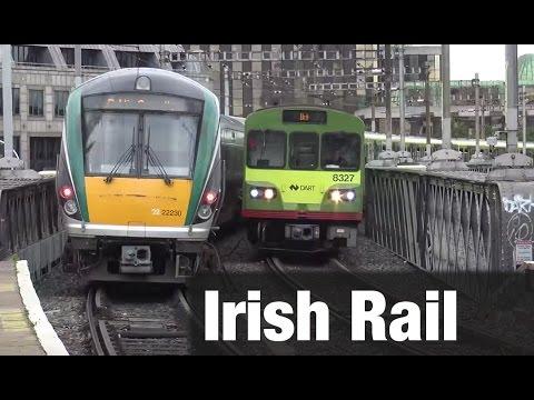 ⁴ᴷ Irish Rail action at Tara Street in Dublin, Ireland