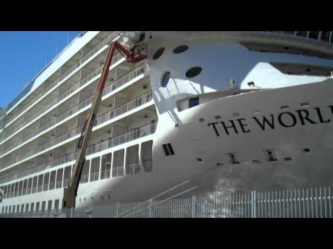 "The World ""Luxury Residences at Sea"" Docked In Auckland New Zealand"