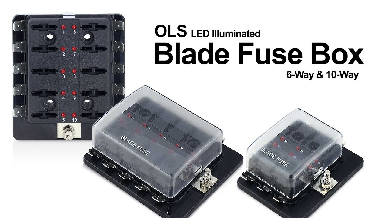 how to ols atc ato led illuminated fuse box usage & installation Blade Fuse with Wire at 30a Mini Blade Fuse Box