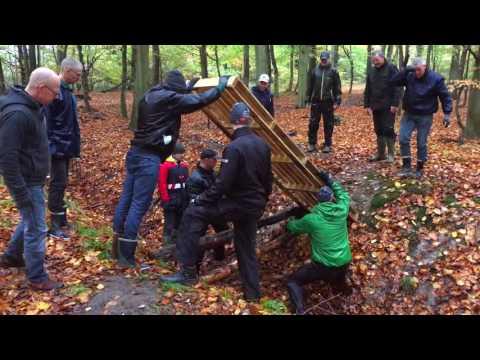 MTB Nyborg på sporarbejde i Teglværksskoven